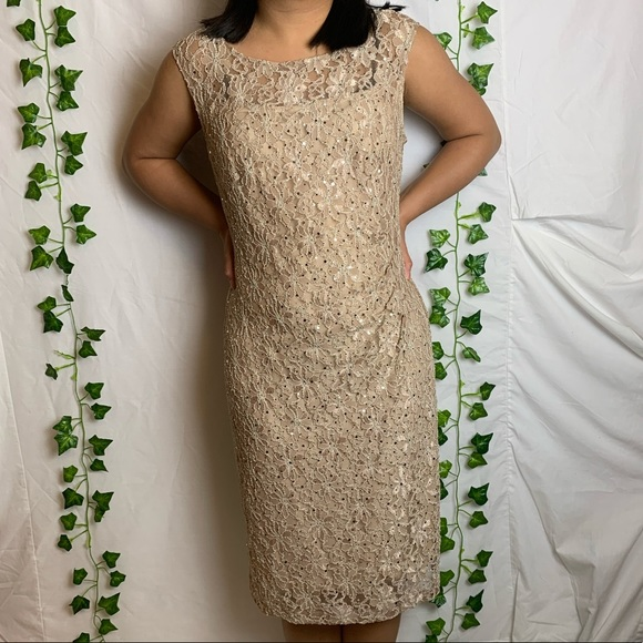 LAURA Sequin Lace Mom of the Bride Dress